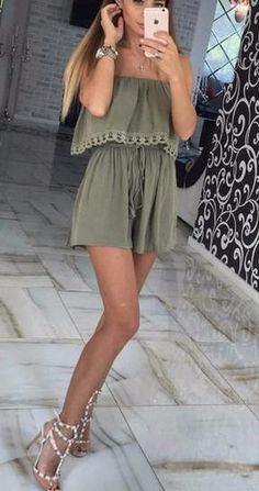 Women's Off-Shoulder Casual Short Romper_________Zorket Provides Only Top Quality Products for Reasonable Prices + FREE SHIPPING Worldwide_________