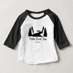 Hidden Brook Baby Raglan Tee - baby gifts child new born gift idea diy cyo special unique design