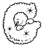 Molde Alfabeto - Boneco de Neve - Pra Gente Miúda