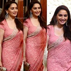 Yellow Saree, Red Saree, Sari, Madhuri Dixit Saree, Princess Diana Fashion, Vintage Bollywood, Work Sarees, Indian Beauty Saree, Timeless Beauty