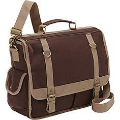 Bellino Expresso Canvas Laptop Messenger  - Brown - via eBags.com!