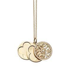 Arabesque and Diamond #Locket in #18k Yellow #Gold