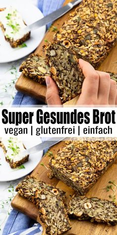 Baking bread - healthy and easy! - Baking bread – healthy and easy! Baking bread – healthy and easy! Baking bread – healthy and - Gluten Free Recipes, Vegan Recipes, Gluten And Yeast Free Bread Recipe, Nut And Seed Bread Recipe, High Fiber Bread Recipe, Gluten Free Vegan, Vegan Gluten Free Breakfast, Healthy Bread Recipes, Healthy Baking