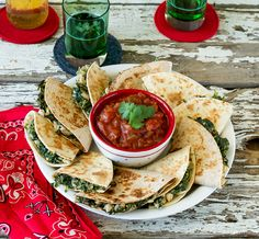 White Bean and Spinach Quesadillas from Cook the Pantry by Robin Robertson
