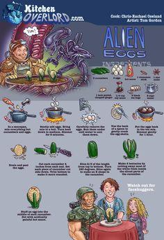 Kitchen Overlord - Alien Eggs Illustrated Recipe