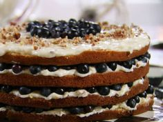 Billie's Italian Cream Cake with Blueberries from FoodNetwork.com -- i had to bake 25 minutes--using a toothpick to test and making sure it had no jiggle in the center when I took it out of the oven