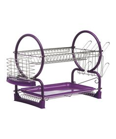 Take a look at this Purple Two-Tier Drying Rack by Premier Housewares on #zulily today!