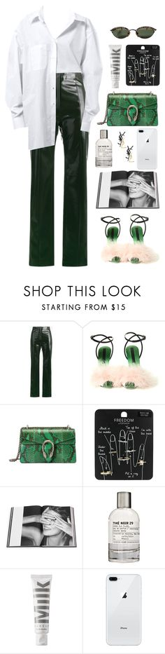 """""""the 19th"""" by millicent4 ❤ liked on Polyvore featuring Acne Studios, Marco de Vincenzo, Gucci, Topshop, Rizzoli Publishing, Le Labo, MILK MAKEUP, Jean-Paul Gaultier and Yves Saint Laurent"""