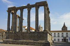 Beautiful ruins in Evora, Portugal