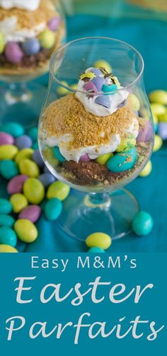 Easy M&Ms®️️️️ Easter Individual Parfaits - fun & delicious! #sponsored #ad /mmschocolate/, @DoveChocolateUS