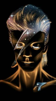 David Bowie Starman, David Bowie Art, Bowie Tattoo, Ziggy Played Guitar, Goblin King, Major Tom, Music Artwork, Ziggy Stardust, Music Love