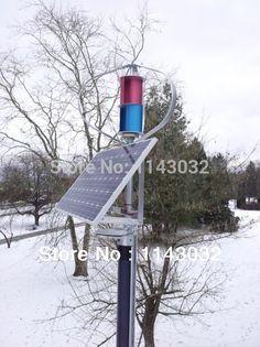 500w Vertical axis wind generator,windmill,wind turbine,+1000w wind solar hybrid controller,100w*2 solar panel-in Alternative Energy Generators from Electrical Equipment & Supplies on Aliexpress.com