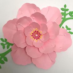 PDF Paper Flower Template, Digital Version Including The Base - The Cherry Blossom #43