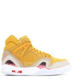 Nike Air Tech Challenge II yellow suede sneakers