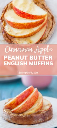 Try this super easy, grab-and-go, healthy breakfast English muffin recipe. With whole grain English muffins, peanut butter, sliced apples, and a cinnamon maple sauce, this breakfast recipe is sure to keep you energized through the morning mayhem. #breakfasts #breakfast #breakfastrecipes #easybreakfast #grabandgo #snacks #snackrecipes #peanutbutter #healthybreakfasts #healthyrecipes #healthyfood #protein Brunch Recipes, Breakfast Recipes, Snack Recipes, Cooking Recipes, Healthy English Breakfast, Best Breakfast, English Muffin Recipes, English Muffins, Easy Delicious Recipes