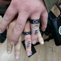 his and her wedding ring tattoos