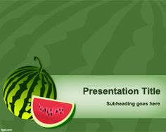 Free Watermelon PowerPoint Template is a fruits background template to decorate your slides with fruit illustrations Powerpoint Template Free, Business Powerpoint Templates, Powerpoint Presentations, Background Powerpoint, Background Templates, Fruit Illustration, Food Backgrounds, Border Design, Free Food