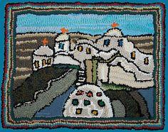 Greek Village: Lewis Creed rag rug