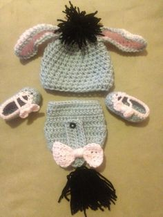 Eeyore baby set by kellyjls on Etsy, $30.00. I NEED this!!!!
