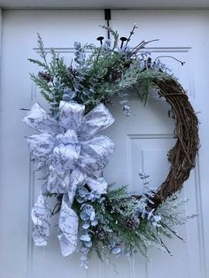 Your place to buy and sell all things handmade Grapevine Christmas, Christmas Wreaths For Front Door, Winter Wreaths, Christmas Nativity, Door Wreaths, Grapevine Wreath, Christmas Decorations, Holiday Decor, Sparkling Ice