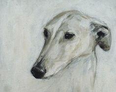 Original-Ölbild eines Galgos/Greyhounds von Lobitos auf Etsy
