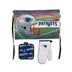 New England Patriots NFL Premium 3-Piece Barbeque Tailgate Set
