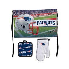 New England Patriots NFL Premium 3-Piece Barbeque Tailgate Set