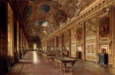 """Ettore Traversari, """"La Galerie D'Apollon Au Louvre"""".  Can I please go there?"""