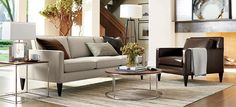 Rochelle Mid Century Living Room | Crate and Barrel