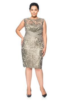 Paillette Embroidered Lace Sheath
