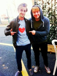 "the funny thing is Rupert made a shirt that said "" I heart Tom Felton"" :)"