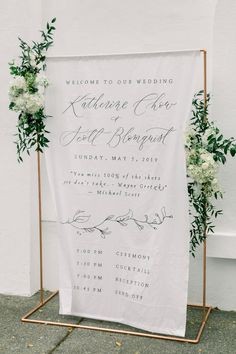 Predesigned Organic Calligraphy Banner / Custom Handlettered Menu / Program / Welcome Sign Wedding Fonts, Wedding Signage, Wedding Stationery, Diy Wedding, Elegant Wedding, Dream Wedding, Wedding Backdrop Design, Wedding Reception Design, Wedding Reception Decorations