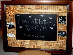 Wine Cork Board & Chalkboard made for a wedding gift