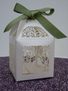 Vintage Birdcage Wedding Favour Boxes