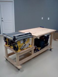 table saw workbench - Google Search:                                                                                                                                                                                 More