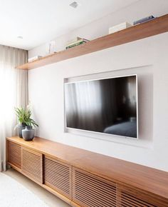 Decoration for the TV Room - Decostore Muebles Rack Tv, Home Living Room, Living Room Decor, Living Room Tv Unit Designs, Home And Deco, Home Interior Design, Furniture Design, Sweet Home, House Design