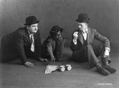 "Oliver Hardy, Allen ""Farina"" Hoskins, Stan Laurel 