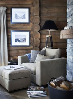 Stockholm Vitt – Interior Design: Rustic Cabin Look for Fall – cozy home comfy Chalet Interior, Home Interior, Modern Interior Design, Interior Ideas, Interior Inspiration, Cabin Furniture, Rustic Furniture, Western Furniture, Furniture Design
