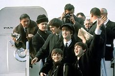 The Beatles arriving in NYC for the first time. Popular music/culture changed forever that day.