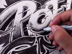 love the dot effect... amazing lettering by Luca Barcellona...