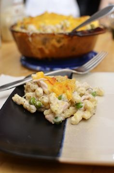 This creamy and cheesy tuna casserole is so easy to make and will quickly become a family favorite! #lmldfood