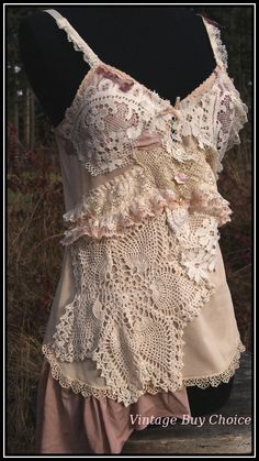 "Beautiful altered couture blouse,""...ivory palaces...""cURRENTLY wITH  cYNTHIA LEVENS sTAMPINGTON & cO. ""ALTERED COUTURE"""