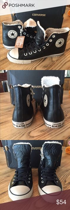 5b80935810f Converse high top Boo winter lined Leather Upper