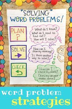 Help students master word problems with problem-solving routines that build critical thinking skills! Tips and tools for helping kids find success with addition, subtraction, multiplication, division and multi-step word problems! Critical Thinking Activities, Problem Solving Activities, Math Activities, Math Games, Math Charts, Math Anchor Charts, Teaching Math, Maths, Teaching Resources