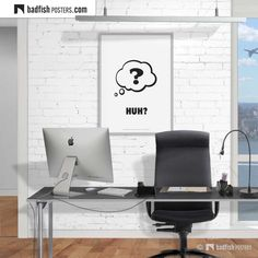 #Huh ? Print #QuestionBubble Huh?, Sound of Surprise, Comic Style Print #CoolPosters #BadFishPosters