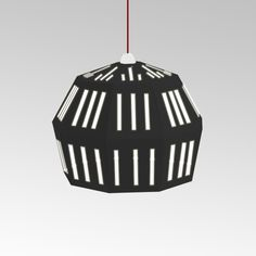 Black cardboard lamp. From UNO collection.