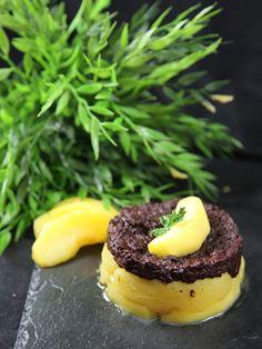 Boudin noir poêlé aux pommes - Recette de cuisine Marmiton : une recette