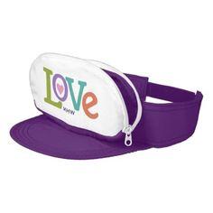 #monogrammed - #Colorful Love custom monogram cap-sac visor