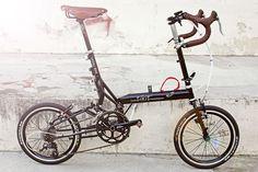 My souped-up Bike Friday Speeding Tikit