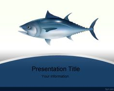 Free Tuna Fish PowerPoint template background is a free style theme for PowerPoint presentations that you can download if you need a PowerPoint theme design with fish illustration or background